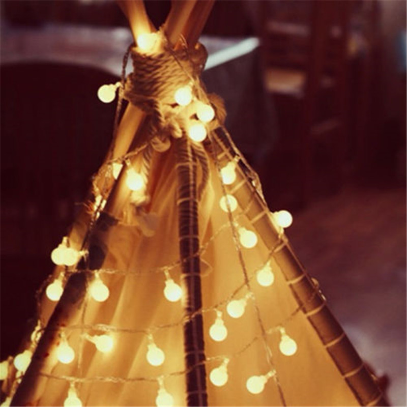 New 1.5M 3M 6M Garland Fairy LED Ball String Lights Waterproof For Christmas Tree Wedding Home Indoor Decoration Battery Powered