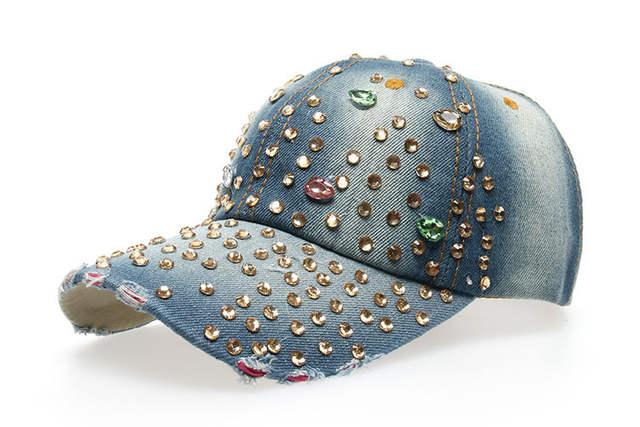 66e4459b55d Factory Price Wholesale Retail JAMONT Hat Hat Cap Fashion Leisure Rhinestones  Bling Women Cap Vintage Jean