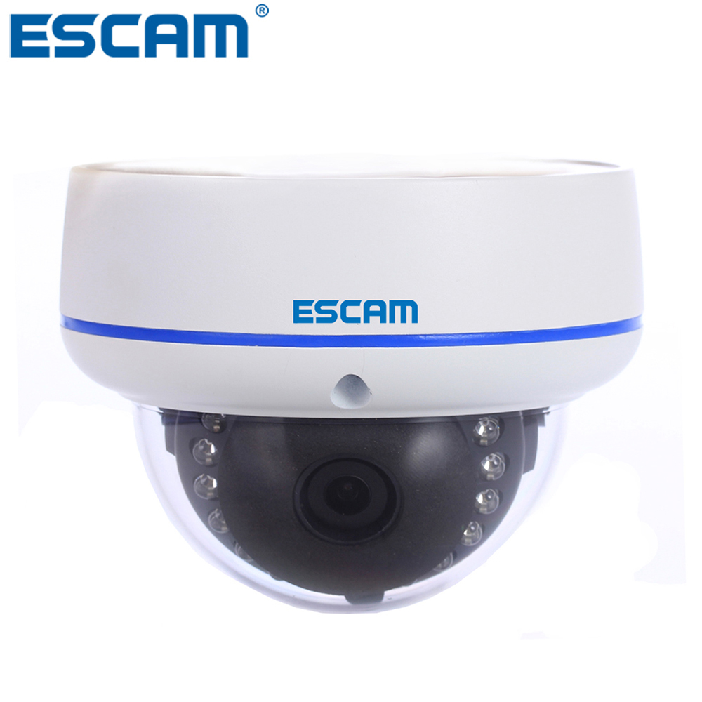 ESCAM Q645R 720P IP Network Camera H.264 P2P ONVIF Wireless Outdoor Waterproof Security Camera IR Night Vision CCTV Dome Camera escam q630m ip camera 720p night vision p2p cloud surveillance camera waterproof 1 0megapixel onvif 2 2 h 264 6 0mm le