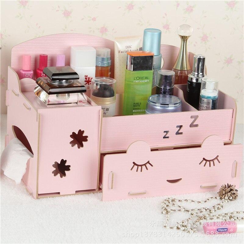 Stay Gold Korėjos mielas kūrybinis daugiafunkcinis medinis stalo - Organizavimas ir saugojimas namuose