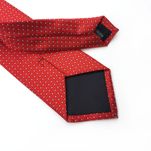 New Brand 8cm Check Blue Purple Red Jacquard Woven 100% Silk Ties Mens Neck Tie Striped Ties for Men Wedding Suit Business Party