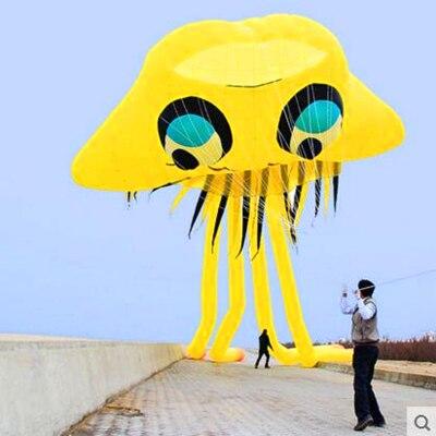Livraison gratuite de haute qualité grand cerf-volant gonflable méduse cerf-volant buggy cerf-volant oiseau en plein air amusant parachute cerf-volant chaîne bobine animée