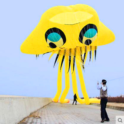 free shipping high quality large inflatable kite jellyfish kite buggy kite bird outdoor fun parachute kite string reel animated