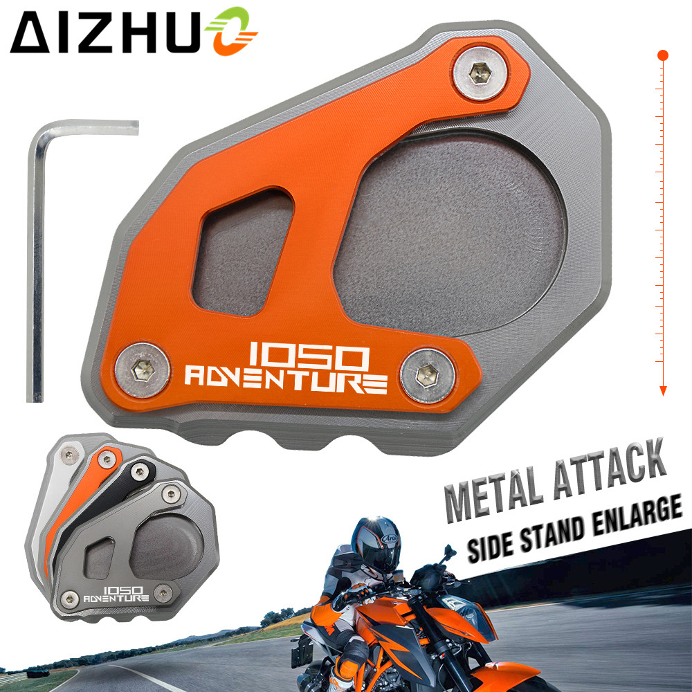 For KTM 1050 1090 1290 Adventure/1290 super adventure r CNC Motorcycle Side Kickstand Stand Extension Plate Side Stand Enlarge|side stand|kickstand pad for motorcyclestand extension - title=