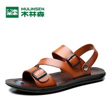 MULINSEN 2017 New Simple Cool Wind Outdoor Leisure Men's Sandals Good Quality Microfiber PU Sole Male Casual Sandals 270253