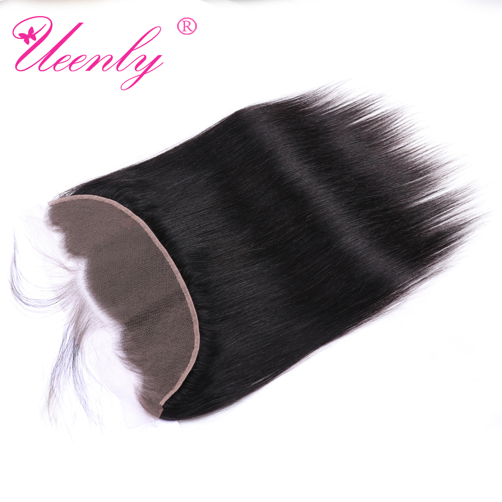 UEENLY Ear to Ear With Baby Hair Brazilian Straight Human Remy Hair