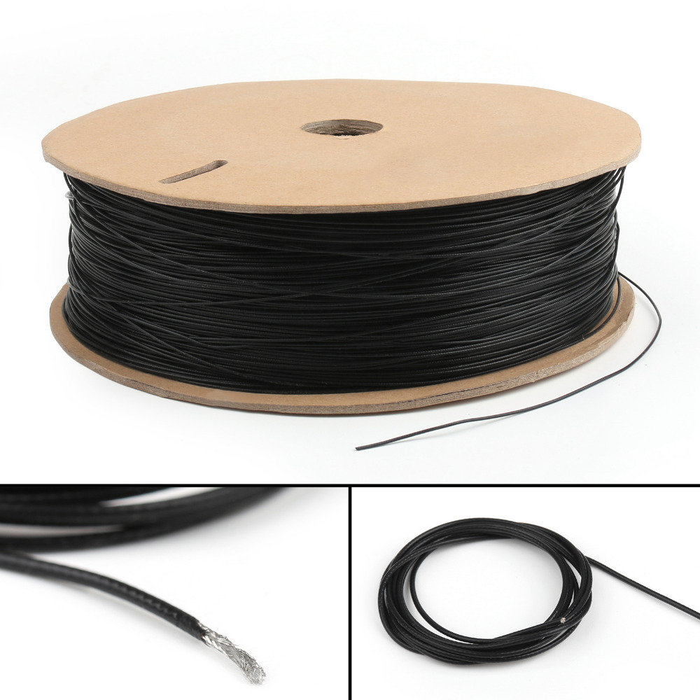 Areyourshop 1.13 1.13mm Mini Coaxial Wires Coaxial Antenna Wire Cable Single Core 16ft 5M 50 Ohm 1PCS Connector