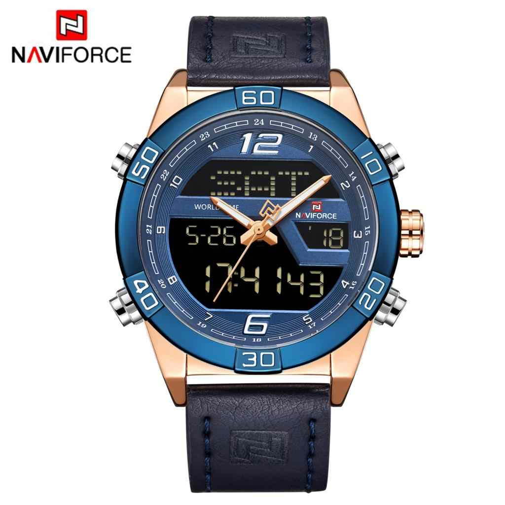 0b6f6887d ... NAVIFORCE Luxury Brand Men Fashion Sports Watches Men's Waterproof  Quartz Date Clock Man Leather Army Military