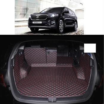 Fiber leather car trunk mat for kia sorento 2015 2016 2017 2018 2019 Kia Sorento Prime 5 7 seats car accessories фото
