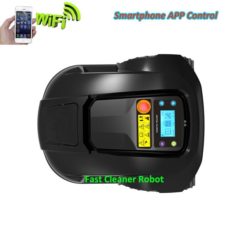 Fonction GYROSCOPE Mini Robot tondeuse à gazon automatique avec Smartphone WIFI APP contrôle, chargeur étanche, sous zone pour petite pelouse - 2
