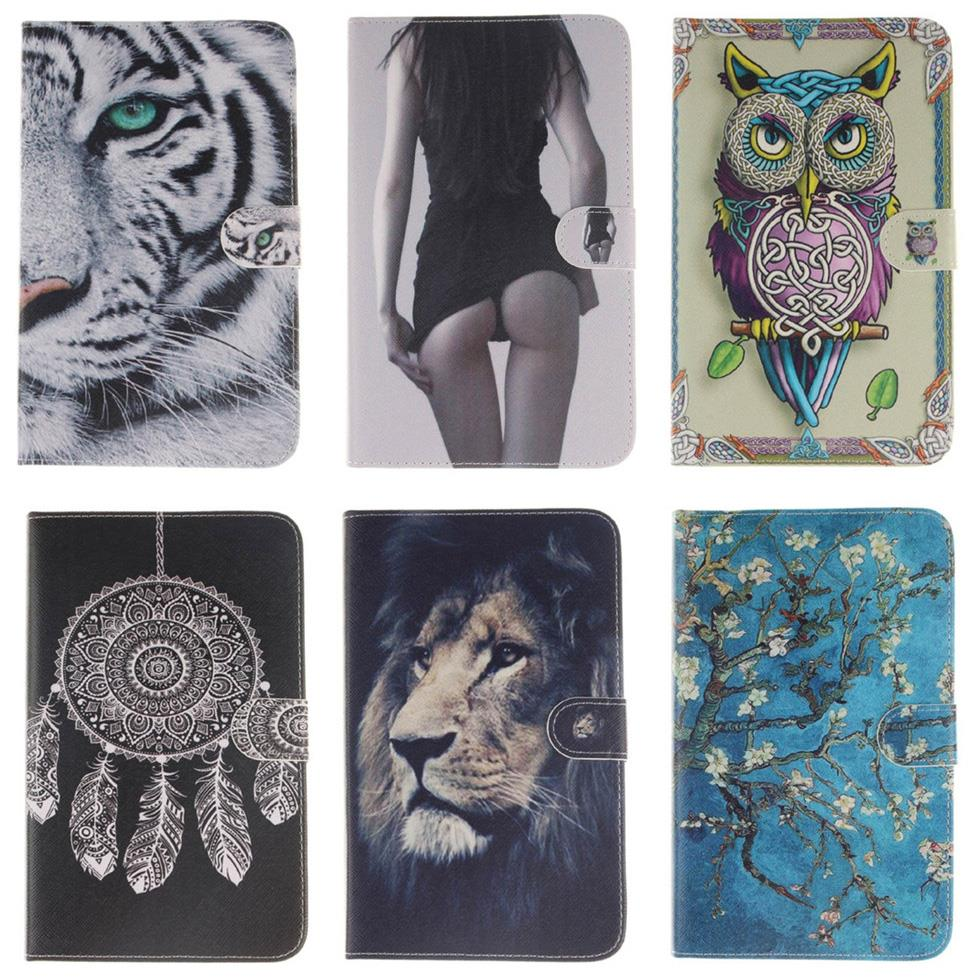 Smart Case For Samsung Galaxy Tab 4 7.0 T230/T231/T235 Tiger Owl Style Flip PU Leather Stand tablet Case T230 T231 Cover #