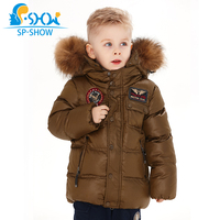 2019 SP SHOW Kids Winter Boy And Girl Brand Ski Hooded Jacket Windproof Siut Thick Warm Fleece Coat+Trousers Two Piece 04