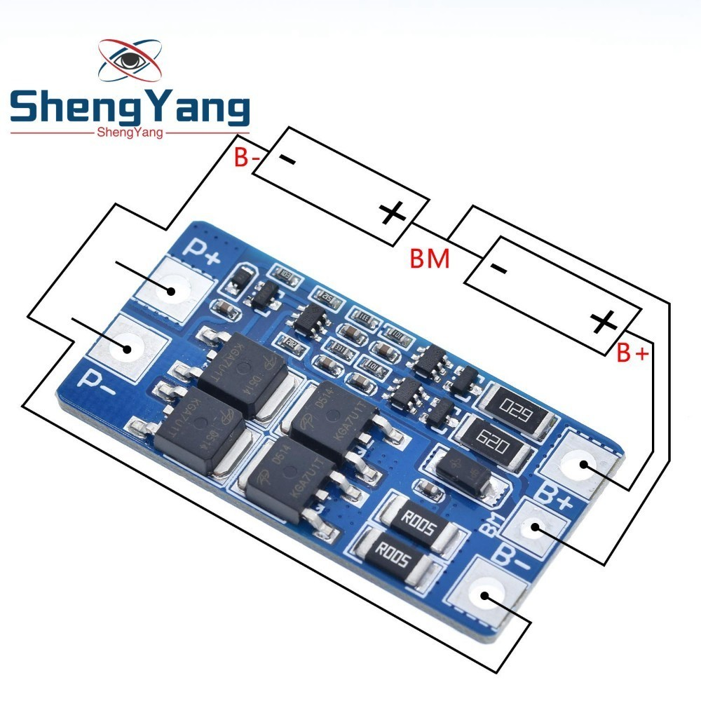 ShengYang 2S 10A 7,4 V 18650 Защитная плата литиевого аккумулятора 8,4 V сбалансированная функция/хорошая защита от перезаряда
