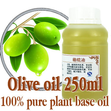 Free shopping100% pure plant base oil Essential oils skin care Olive oil 250ml Moisturize and nourish Fine and smooth Anti-aging