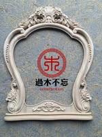 Nicht vergessen die Chinesische Dongyang holzschnitzerei holzrahmen style dresser spiegelrahmen holz kamin