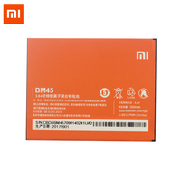 Original Xiaomi Redmi Note 2 Cellphone Battery BM45 3020mAh High Capacity Batteria 3 7V Lithium Polymer