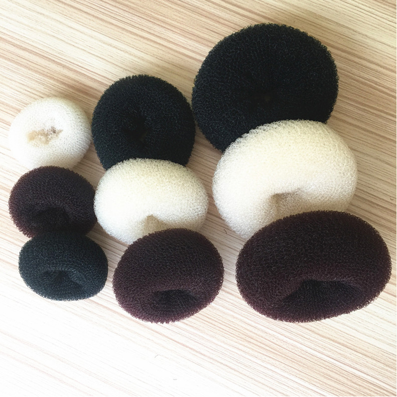 3 Sizes (6CM, 8CM, 9CM) Korean Style Bud Head Ball Head Disk Donuts Dish Hair Hairdressing Tools For Women Hair Accessories 29