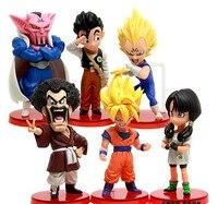 6pcs Dragonball z Vegeta Battle toys 10cm Q Tamashii Nations super saiyan 5 goku Anime Dragon bal z Miniatures figurines