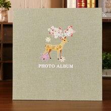 2017 new Cloth cover DIY photo album baby growing lovers romantic commemorative