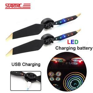 Image 1 - STARTRC DJI Mavic 2 pro LED Flash 8331 eliche Caricatore USB Batteria Ricaricabile Eliche Per DJI Mavic Pro Platino Drone