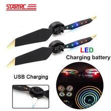STARTRC hélices de Flash LED para Dron DJI Mavic 2 pro 8331, Cargador USB, hélices de batería recargable para Dron DJI Mavic Pro Platinum