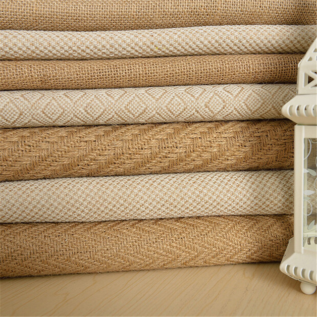 Good Quality 1MeterX 160cm Width Jute Table Runner Burlap Fabric For Burlap  Chair Sashes Burlap Ribbon