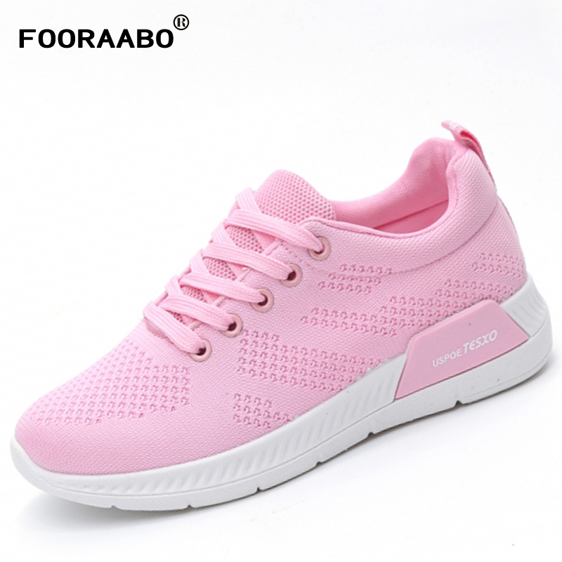 FOORAABO New Spring Women Shoes Casual Autumn Breathable Girl Casual Classic Walking Shoes Flats Tenis Feminino Zapatillas Mujer ceyue fashion brand women shoes breathable air mesh trainers 2017 spring autumn casual shoes woman walking flats tenis feminino
