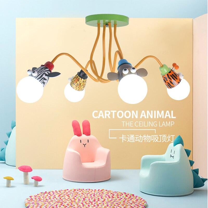 3 Светильники 4lights детская кровать освещения люстра современная для Гостиная E27 детей люстры