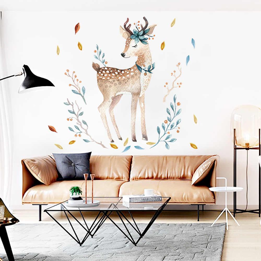 Специальное предложение Ограниченная серия, наклейка на стену с оленем для детской комнаты, наклейки на дверь для гостиной, аксессуары для украшения дома, мода 2018