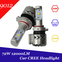 Super Bright 12000lm 9012 HIR2 Xenon White 6500K Car LED Headlight Conversion Kit Cree XHP 50