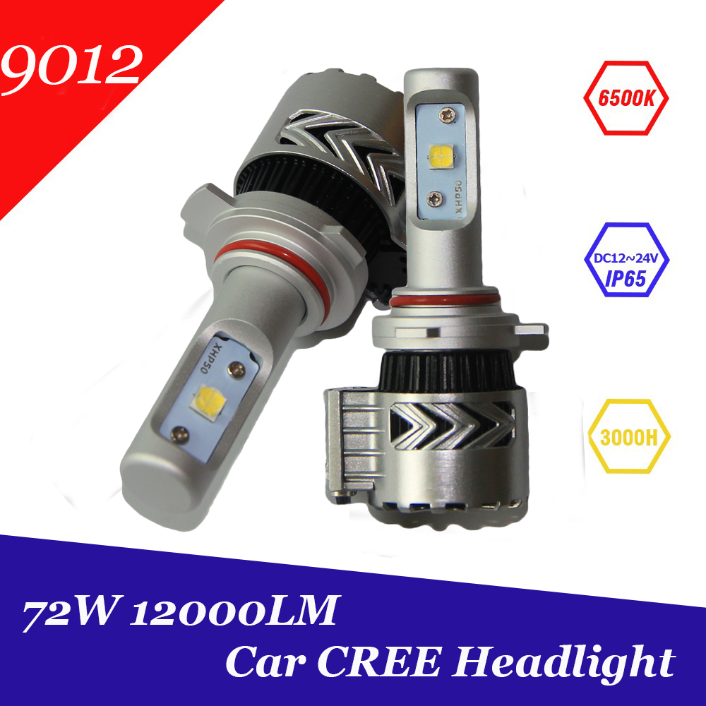 Super Bright 12000lm 9012 HIR2 Xenon White 6500K Car LED Headlight Conversion Kit Cree XHP-50 Chip Daytime Running Lights Bulb  yumseen super bright 9600lm h1 xenon white 6000k car led headlight conversion kit lamp cree xhp 50 4800lm bulb 1 years warranty