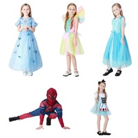 Sale Beautiful Kids Halloween Costume Cosplay Costume Princess Dress Girls Boys Spider Man Disfraces Rainbow Fairy