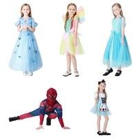 Sale Beautiful Kids Halloween Costume Cosplay Costume Princess Dress Girls Boys Spider Man Disfraces Rainbow Fairy