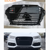 S3 styling ABS full Black painted Front Grille Car Bumper Grills For Audi A3 RS3 2013 2014 2015 2016