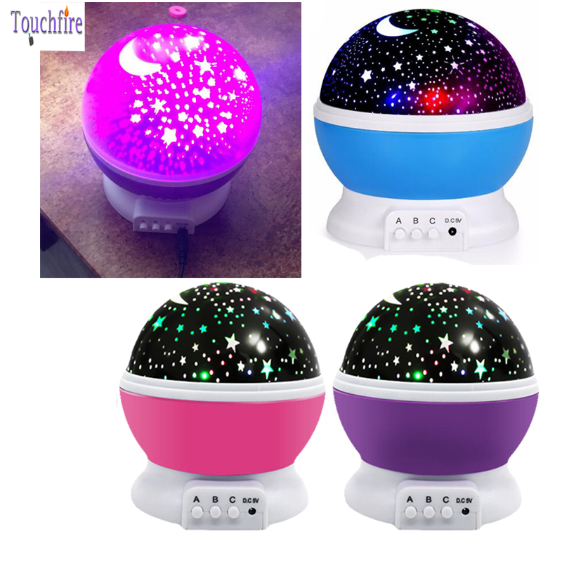 LED Night Light Colorful Star Outdoor Projector Stage Lamp Moon Sky Kids Girl Children Baby Infantil Room Wedding Decoration
