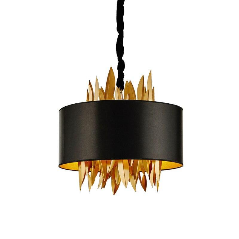 Post modern gold leaves Pendant Light Dia.55cm 4PCS E14 lamp creative drop light Kung art decoration Light suspension lamp nokia 515 light gold