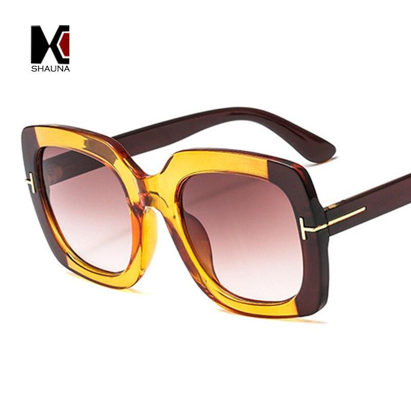 806ed5e592 SHAUNA Retro Square Sunglasses Women Fashion Double Colors Frame Men  Gradient Sun Glasses