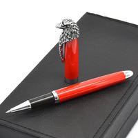 1pc Gift Rollerball Pen Luxury Eagle Design Clip Black Red Metal 0.5mm High end Gift Pens for Business School Office Supplies