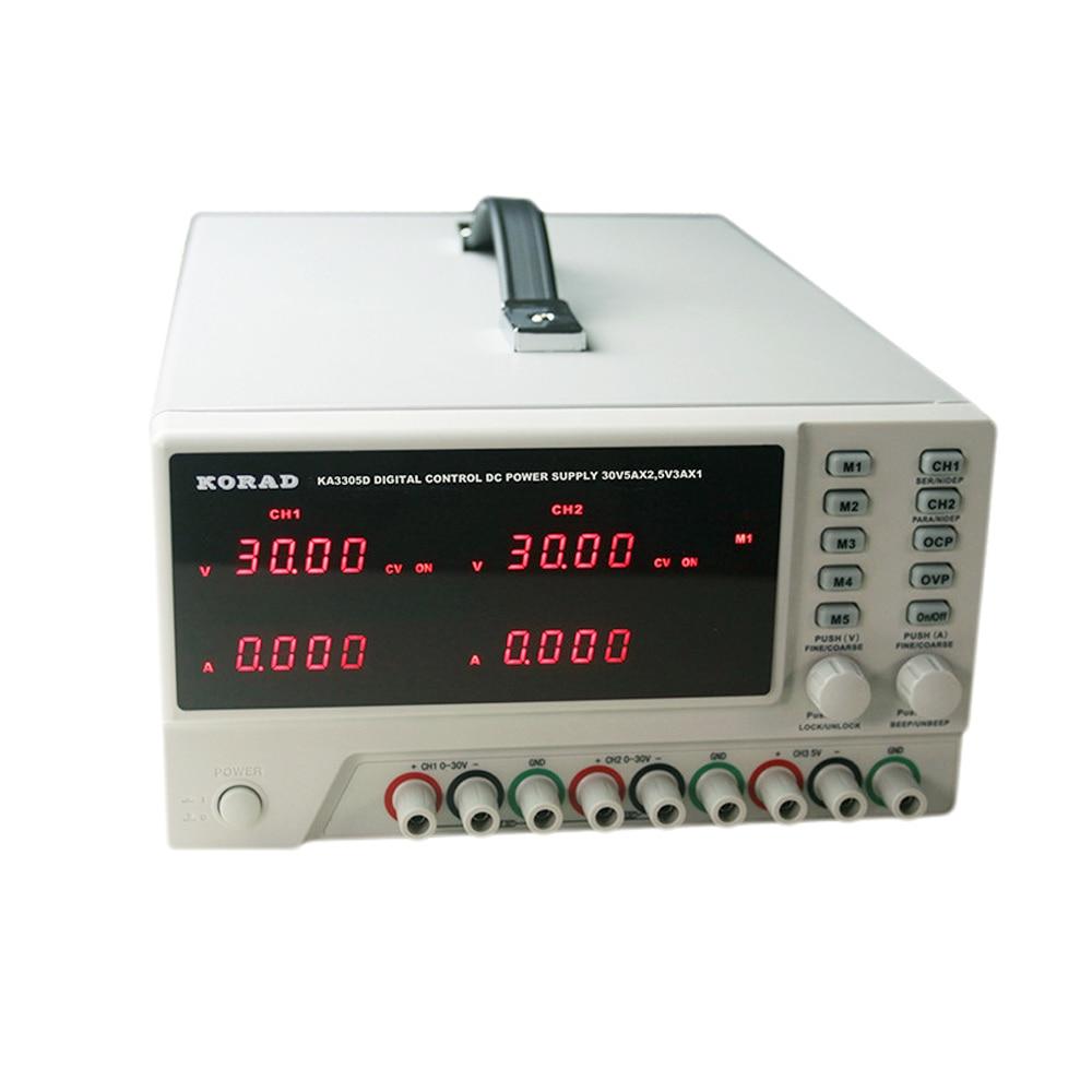 KORAD KA3305D Programmable Precision Variable Adjustable 30V 5A DC Digital Regulated Three-Way DC Power SupplyKORAD KA3305D Programmable Precision Variable Adjustable 30V 5A DC Digital Regulated Three-Way DC Power Supply