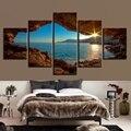 Пейзаж, холст, живопись, современное настенное искусство, печатные картины, 5 шт., домашний декор, горы, закат, живопись для декора гостиной