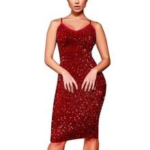 New Women Dresses 2018 Womens Sexy Bodycon Dress Sling Party Sequined Dress vestidos femininos