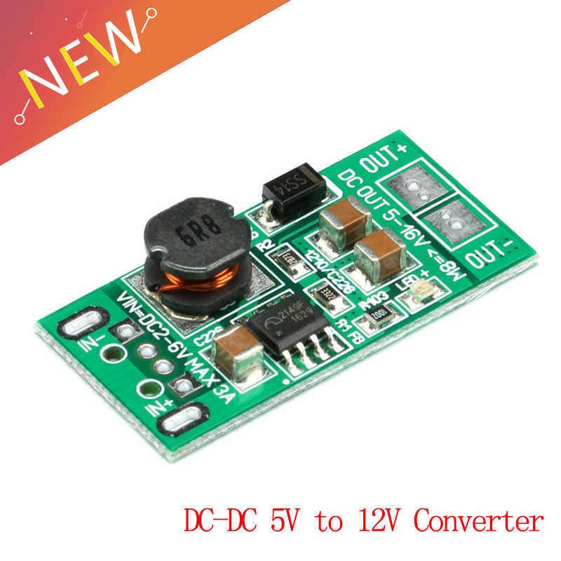 DC DC 8 W 5 V untuk 12 V Step Up Boost Converter Power Supply Modul USB Input DC-DC Langkah -Up Papan Adaptor Papan Sirkuit