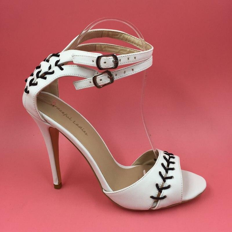 Open Toe White Ladies Sandles Heels Sandalia Feminina Ladies Summer Shoes Zapatos De Mujer White Heels Actual Pictures Size 14 ladies consultation coat white size 14 1 each model 88018qhw14
