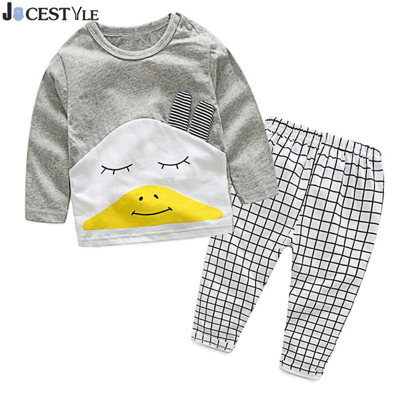 Chidren Unisex Kit Clothing Set Long Sleeve T-Shirt Suits+Pant Cotton Cloth Baby Girls Boys Clothes Casual Toddler Outfits Set