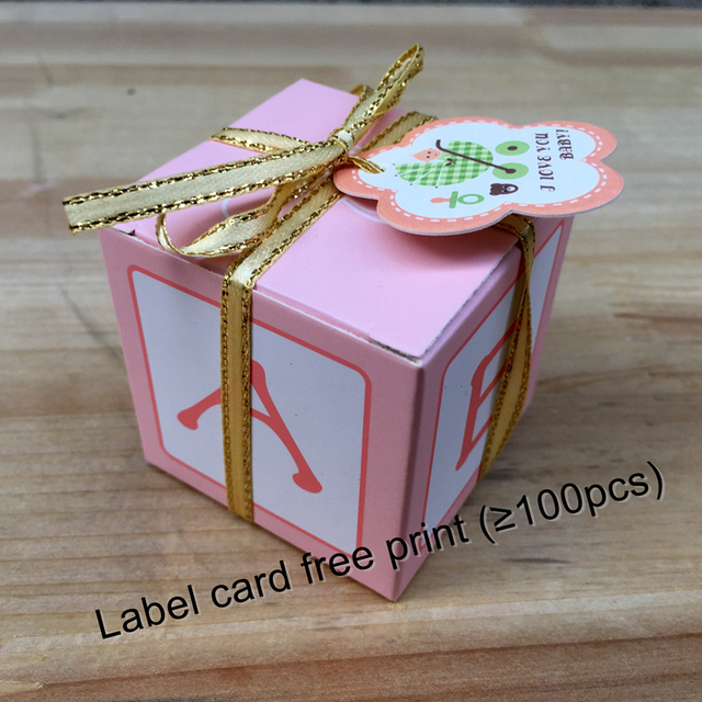 Fast Delivery 50pcs Lot Baby Shower Favor Candy Box Baptism Christening Birthday Gift Party