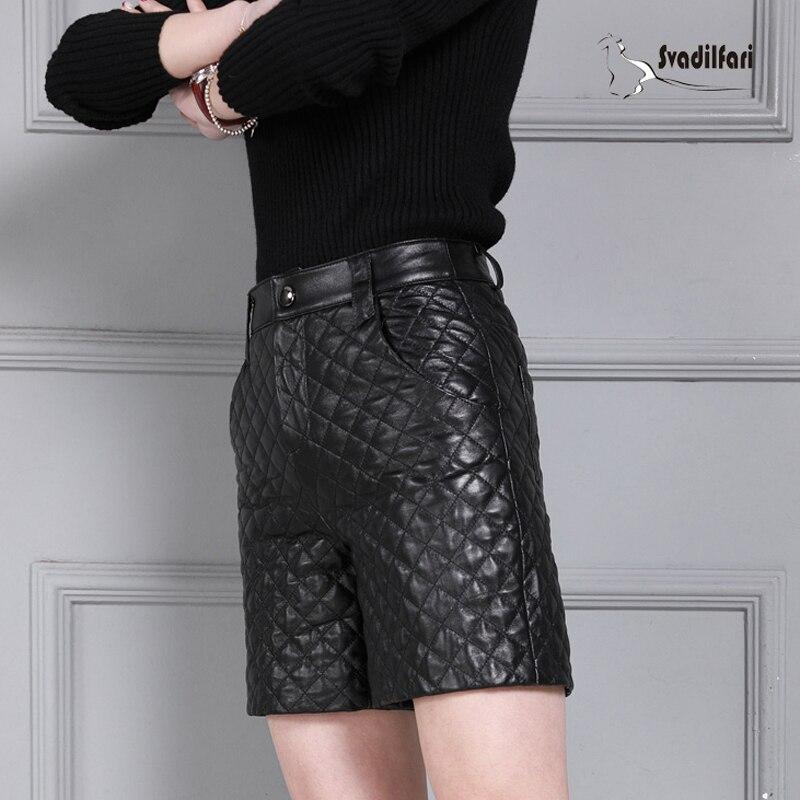 Botte De Peau Le 4xl Ressort Coton Noir Haute Cuir Femmes Shorts Costume Plus Pantalon Mouton La Base Court En Taille Épaississement 2018 O6wq7Of