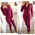 TAOVK design new fashion Russia style Women's Spring and Autumn Bodysuits Suede jumpsuit