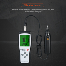 4 In 1 Vibrometer Acceleration Velocity Displacement Temperature Vibration Tester Vibration Meter Vibration Tester Analyzer vm6380 2 double channel digital meter portable vibrometer vibration analyzer tester with 2 piezoelectric transducers sensor