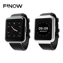 Finow Q1 Hot Square SmartWatch Android 5.1 MTK 6580 Quad core 1GB+8G 1.54″ Display WiFi GPS 3G Bluetooth For IOS Android PK DZ09