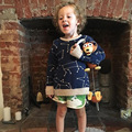 Bobo Choses Constelação Camisola Mãe E Filha Roupas de Inverno Pullover Blusas Bebê Crianças Meninos Meninas Camisola de Malha